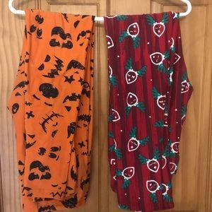 Holiday LulaRoe leggings OS